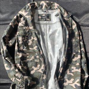Camo distressed jacket